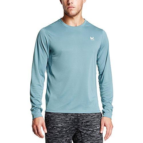 Mission Men's VaporActive Alpha Long Sleeve Athletic Shirt, Citadel, Large