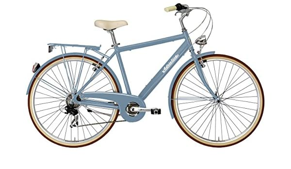 28 pulgadas Hombre City bicicleta 6 velocidades adriatica sity Retro Man, azul: Amazon.es: Deportes y aire libre
