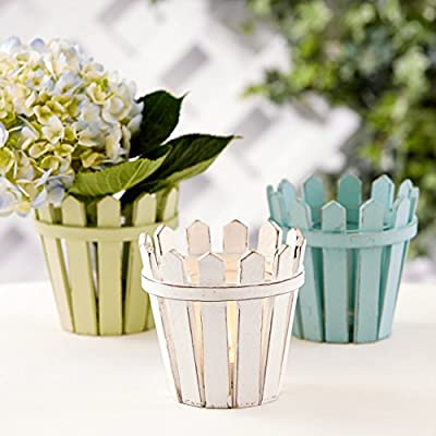 Nantucket Picket Fence Tealight Candle Holder / Vase Set of 3