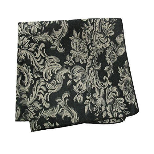 Ultimate Textile (10 Dozen) Miranda 17 x 17-Inch Damask Cloth Napkins- Jacquard Weave, Black by Ultimate Textile (Image #2)