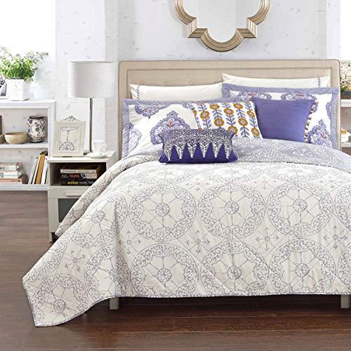 Lux Bed Cotton 1-Piece Bergen Palace Grey Quilt Full - Queen