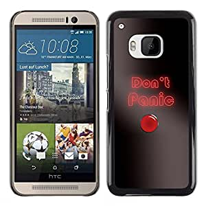 Stuss Case / Funda Carcasa protectora - Don'T Panic Button - HTC One M9