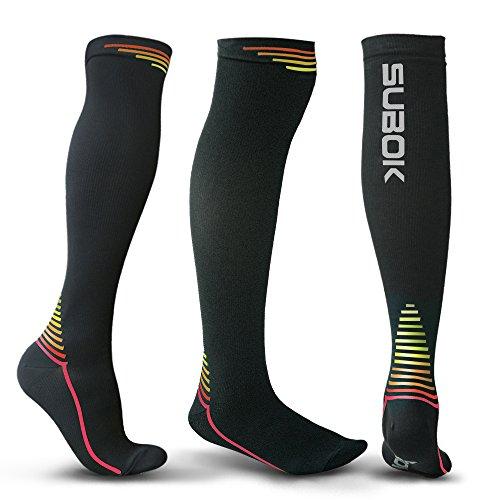 Compression Socks for Women&Men (20-30mmHg) - Best Stockings for Nurses, Running, Athletic, Flight Travel, Varicose Veins, Shin Splints & Pregnancy - Improve Circulation & Recovery (Hand Patterns Splint)