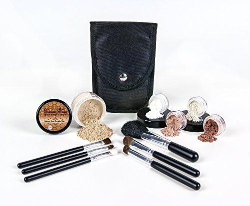 STARTER KIT with 6 pc BRUSH SET Mineral Makeup Bare Skin Mat