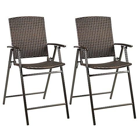Stratford Wicker Folding Balcony Chair (Set of 2) by Stratford