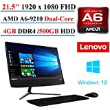 2017 Newest Lenovo Ideacentre AIO 510 21.5 All-In-One Desktop, AMD A6-9210, 4GB DDR4 Memory, 500GB Hard Drive, Bluetooth 4.0, Black, Windows 10