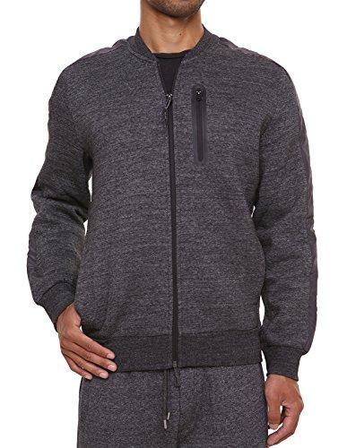 (Men's Bomber Jacket Coat Sweatshirt Full Zip Varsity Sport Outwear Fleece Jacket)