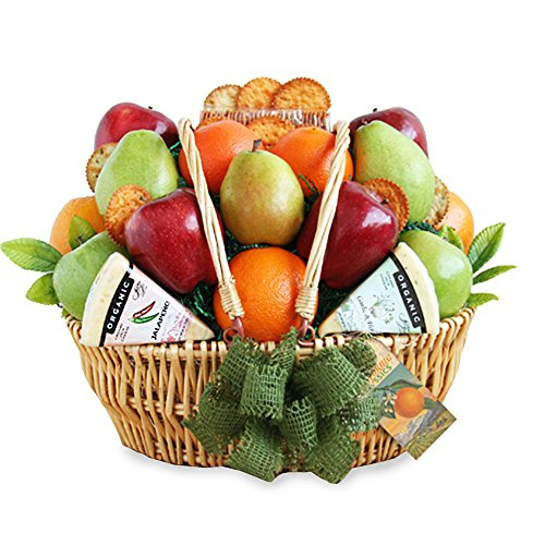 California Delicious Farmers Market Fruit and Cheese Gift Basket by California Delicious
