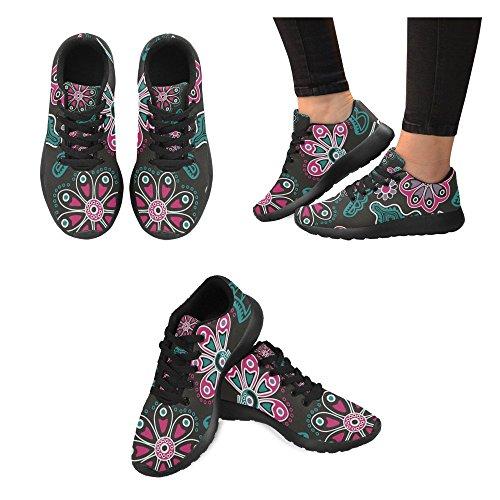 running de Lona mujer Zenzzle Negro de para 11 Color negro Zapatillas TwBpEpZq7x
