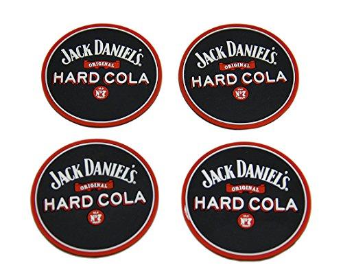 Set of 4 Jack Daniels Hard Cola Rubber Coasters Mini Beverage - Cola Jack And Daniels