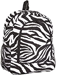 Ever Moda Zebra School Backpack (Black)