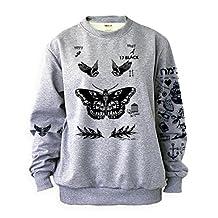 Noonew Women's Harry Tattoos Styles Sweatshirt Small Gray