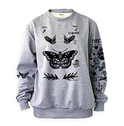 Noonew Womens Harry Tattoos Styles Sweatshirt  Xx Large