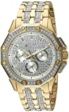 Best Bulova Man Watches - Bulova 98C126 Swarovski Crystal Mens Gold-Tone Bracelet Pave Review