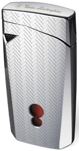 - Tonino Lamborghini Magione Chrome with Interwoven Pattern Torch Flame Cigar Lighter