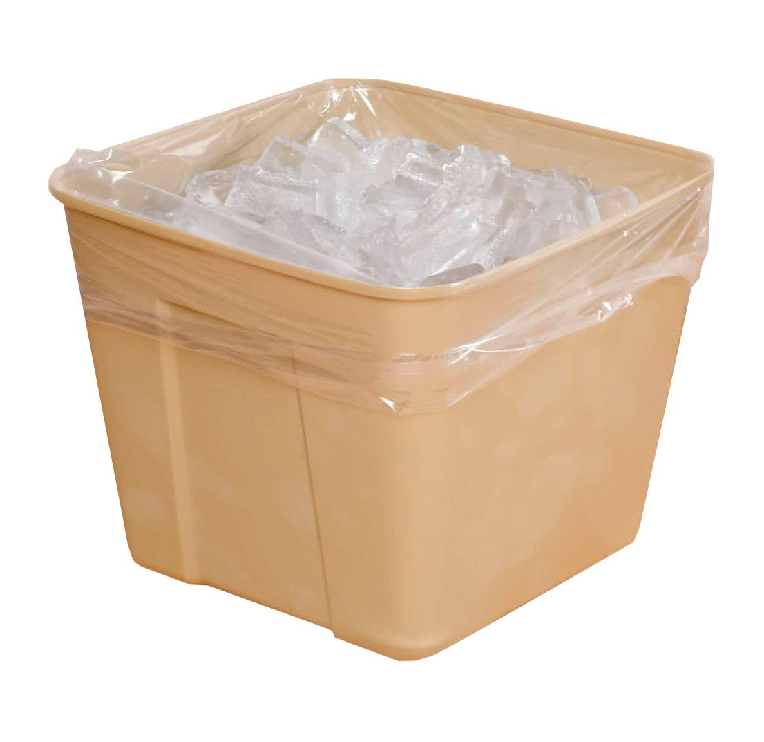 APQ Pack of 1000 High Density Ice Bucket Liners, Clear 12 x 12 Multifunctional ice bags 12x12 Transparent High Density Polyethylene Liners for industrial, food service, healthcare needs 0.48 Mil Thick