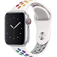Pulseira Sport silicone furo NK para apple watch series 1,2,3,4,5 tamanho 38mm 40mm Pride