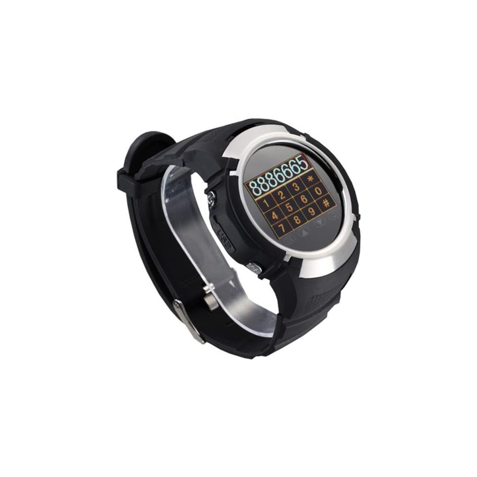 Etree MQ222 GSM Quad Band Watch Mobile Phone 1.33 TFT Touch Screen with 1.3 Megapixel Camera, Bluetooth, FM Radio,  Black
