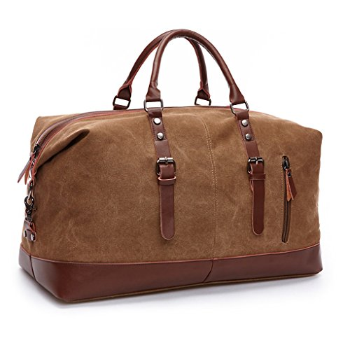 Sport Tote Canvas (Kenox Canvas Travel Duffel Bag Sport Tote Bag Weekender Overnight Luggage)