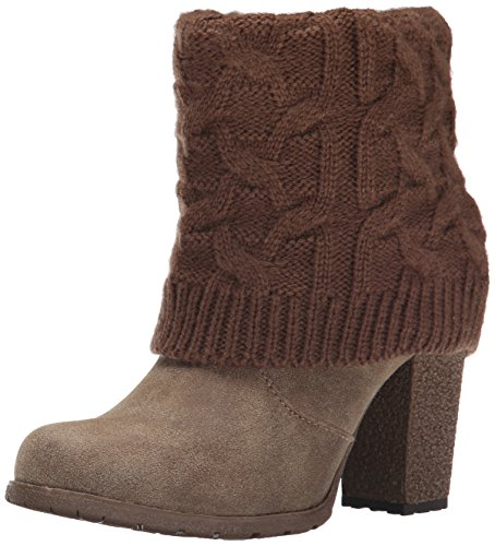 MUK LUKS Womens Chris Cable Knit Winter Boot Brown