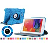 "Moko Samsung Galaxy Tab 3 Lite Case - 360 Degree Rotating Cover Case ONLY for Samsung Galaxy Tab 3 Lite T110 / T111 7 "" Inch Android 4.2 Tablet, Cutie Charm BLUE (NOT Fit Tab 4 7.0 / Tab 3 7.0)"
