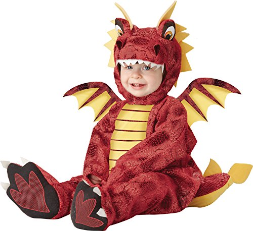 [UHC Baby's Adorable Red Dragon Mushu Animal Infant Toddler Halloween Costume, 18-24M] (Ultimate Party Animal Halloween Costume)