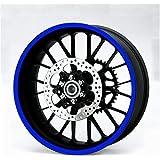 Resistente Reflectante Azul 600mm Strip Pegatina Coche Moto Quad Trike Wheels Carrocería Depósito Combustible