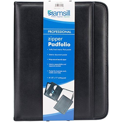 Wholesale CASE of 10 - Samsill Sterling Zipper Pad Holder-Zipper Pad Holder,Exterior Pocket, 12-1/2