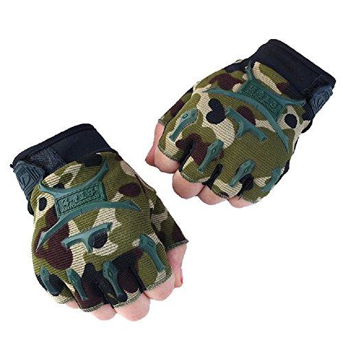 Children Half Finger Fingerless Short Gloves Mitt Mitten for Cycling MTB Exercise Skate Skateboard Roller -