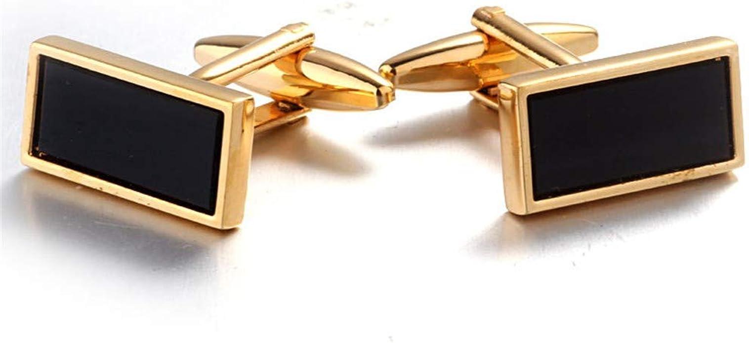 YYXXX Gemelos Camisa Francesa cuña Rectangular Oro Clavo ...