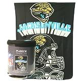 """Jacksonville Jaguars """"Reflecting Helmet"""" Lightweight Fleece Blanket (Measures 50"""" x 60"""")"""