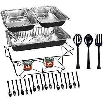 Amazon Com Tiger Chef 33 Piece Black Food Warmer Chafing