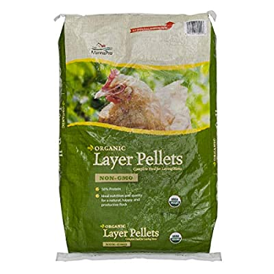 Manna Pro Layer Pellets for Chickens|Non-GMO & Organic Feed for Laying Hens|30 Pounds