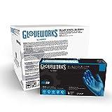 GLOVEWORKS Blue Vinyl Industrial Gloves, Case of