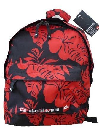da9c7c7399 Quiksilver women s girl s red flower rucksack backpack bag  Amazon.co.uk   Clothing
