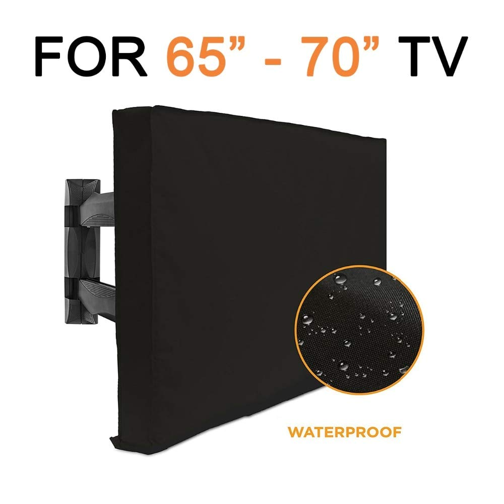 VU ANH TUAN Store TV Covers Outdoor TV Cover 65''-70'' with Bottom Cover Best Weatherproof Dust-Proof Microfiber TV Screen Protector Patio TV Covers