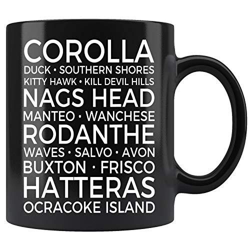 Outer Banks North Carolina Towns OBX Souvenirs Mug Coffee Mug 11oz Gift Tea Cups 15oz