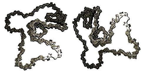 Forester Chainsaw Replacement Chain Chicago 68862 Pole Saw 8 Inch Fits Saws 3/8inch LP Pitch .050gauge 33DL 2 Pack ()