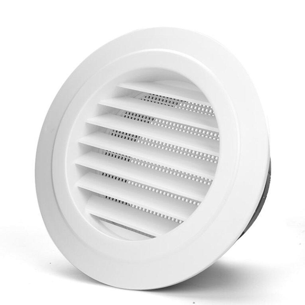 Hon&Guan Ronda Rejilla de Ventilació n ABS con Protecció n Contra Insectos , Respiraderos de Lá minas para Bañ o Habitació n Oficina (ø 100mm) Respiraderos de Láminas para Baño Habitación Oficina (ø100mm)