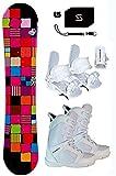142cm Sionyx Snowboard & Symbolic White Bindings