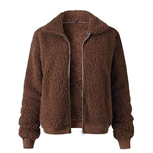 le longues Outwear et fascinant hiver café avec Womens manches fausse Seasons fourrure pour Fashion polyvalent Jacket manteau automne like Shop SzaqO7