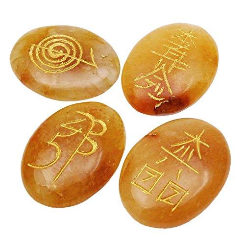 orange calcite wand - 2
