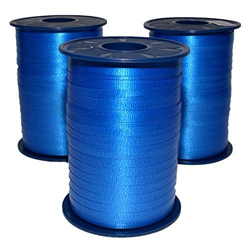 MorexRibbon Polypropylene Royal Blue Curling Ribbon, 3/16-Inch by 1500-Yard - 3-PACK ()