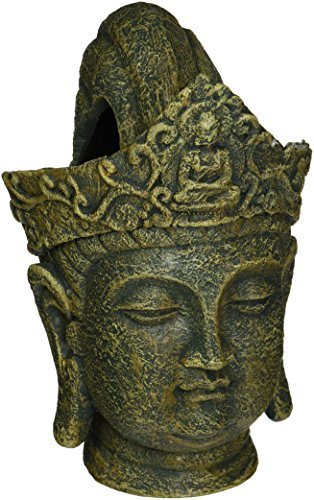 Penn-Plax Buddha Head Fish Tank Decoration Ornament