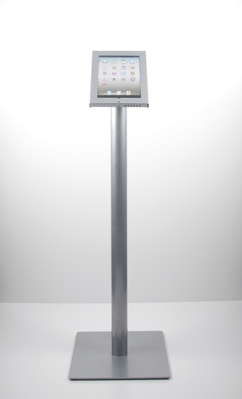 iPad floorstandシルバー(タブレットマウントホルダー床スタンド)すべてのiPadモデル( 2、3、4、iPad air、) B0087O2L2Q