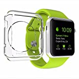 Apple Watch Case, LUVVITT® CLARITY Case for Apple Watch 38mm   Includes TEMPERED GLASS Screen Protector - Full Body Apple Watch Cover and Screen Protector for Apple Watch   Crystal Clear Case for Apple Watch   TPU Flexible Rubber Case - For 38mm Apple Watch