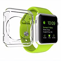 Apple Watch Case 38mm, LUVVITT [Clarity] Full Body Clear Soft Flexible TPU Case with Tempered Screen Protector for Apple Watch - 38 mm Clear