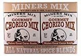 Miners Mix Gourmet Mexican Style Chorizo Seasoning Sazonador para Chorizo 4 Pack Makes 4 Lbs of Real Healthy Chorizo From Ground Beef
