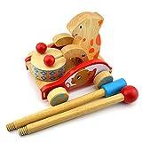 New Arrival Children's educational toys push rod bear cart cartoon