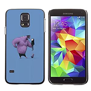 LECELL--Funda protectora / Cubierta / Piel For Samsung Galaxy S5 SM-G900 -- Cartoon Comic Figure Furry Big Man Funny --